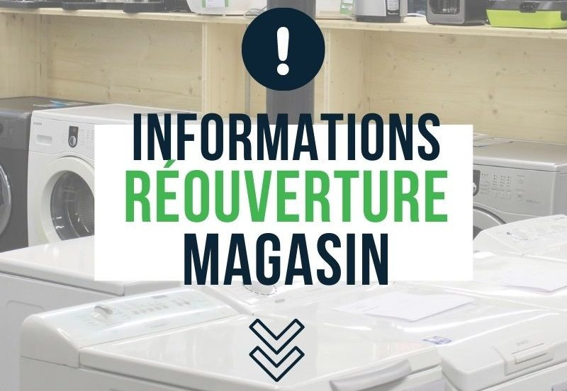 reprise horaires reouverture magasin